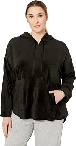 Plus Size Hooded Top