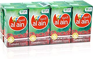 Al Ain Tomato Paste Tetrapack - 135 g, Pack of 8