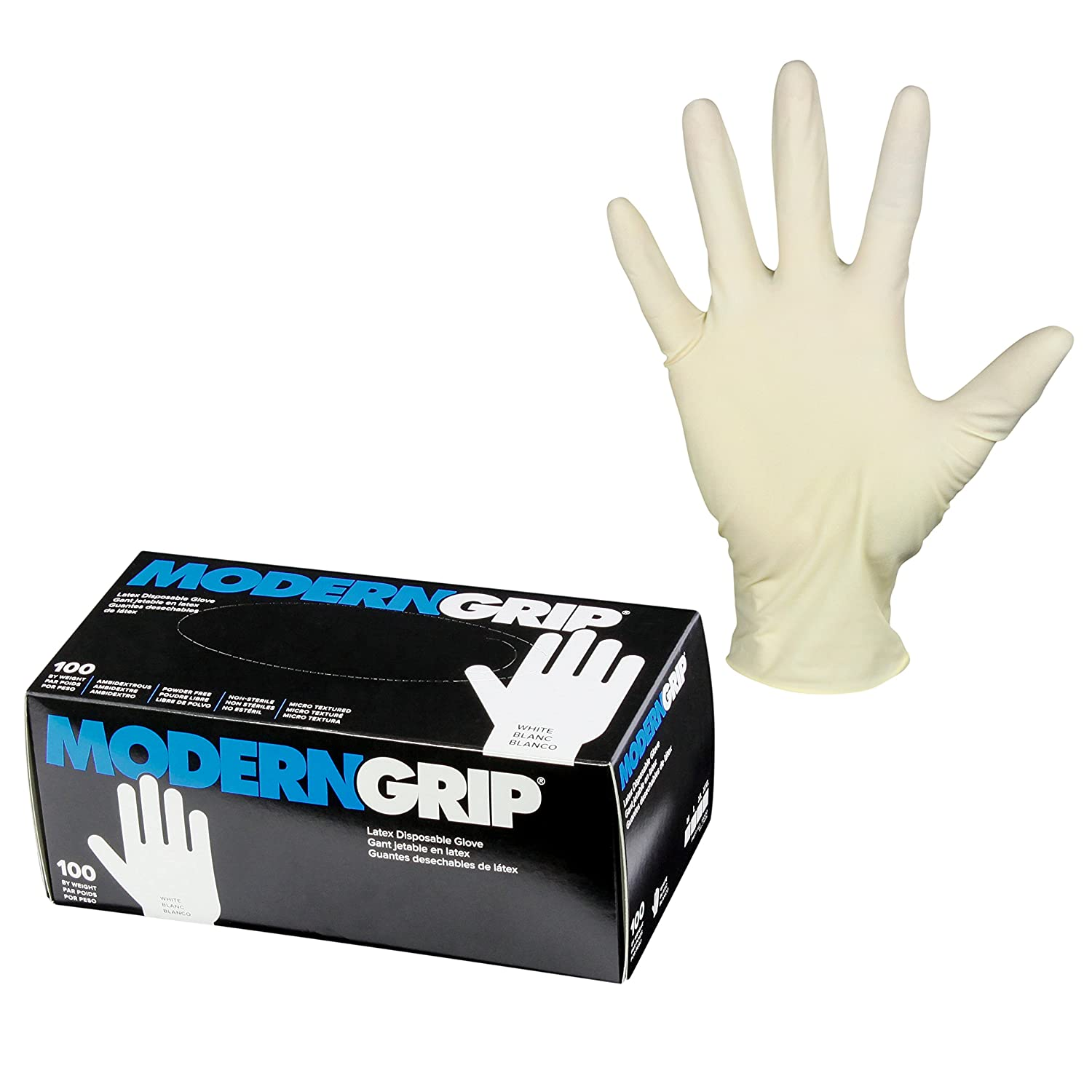 Modern Grip 19000-L Latex 9 25% OFF Heavy Disposable Thickness SALENEW very popular! mil Duty