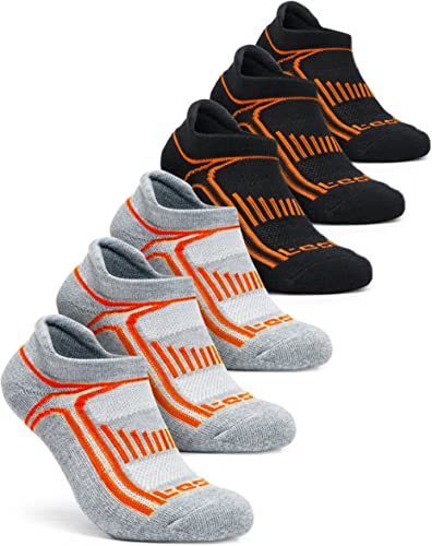 TSLA Men & Women 4-Pairs / 6-Pairs Athletic Performance Running No Show Active Socks
