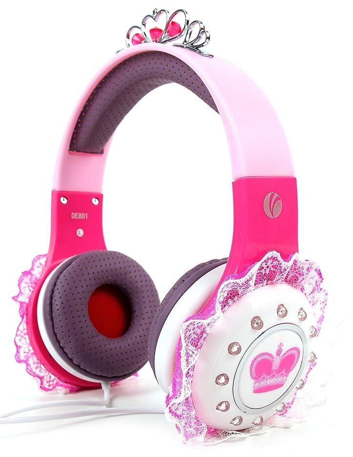オペラストレス軸Limited Edition Children 's ' Princess 'ティアラヘッドフォンinピンク&パープルwith Pretty Lace Detailing for the Funker w6.0?Pro 2
