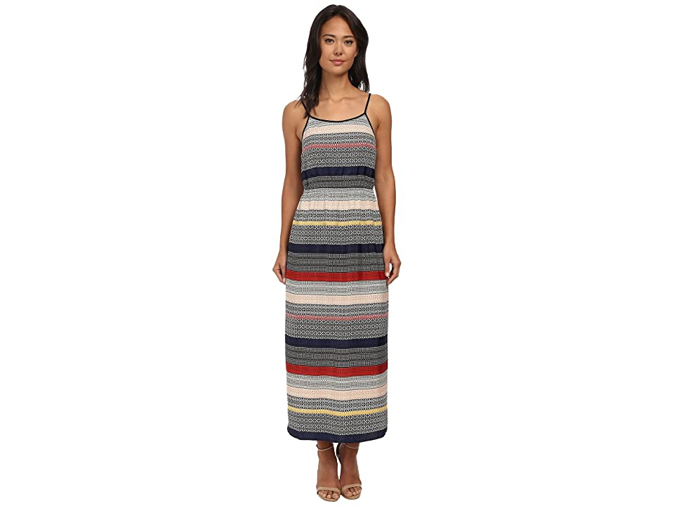 Vince Camuto Morocco Tile Stripe Maxi Dress (Antique White) Women