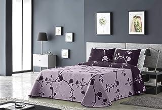 Couvre-lit//couvre-lit Vintage matelass/é Motif Floral brod/é Evie 260 x 240