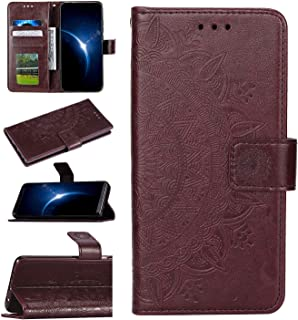 Urhause Funda Compatible con Xiaomi Redmi Note 7 Carcasa Cuero Protectora PU Billetera Mandala Relieve Funda Tipo Libro Pi...