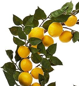 "Nearly Natural 4567 24"" Lemon Wreath"