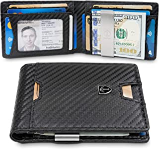 TRAVANDO Slim Wallet with Money Clip AUSTIN RFID Blocking Card Mini Bifold Men
