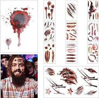 LOVEXIU Decoracion Halloween Terror ,Halloween Tatuajes Temporales, Halloween Zombie Cicatrices Tatuajes Pegatinas,Pegatin...