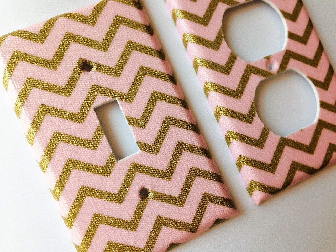 Metallic Gold San Diego Mall New item and Pink Light Offered Switch Cover Sizes Various