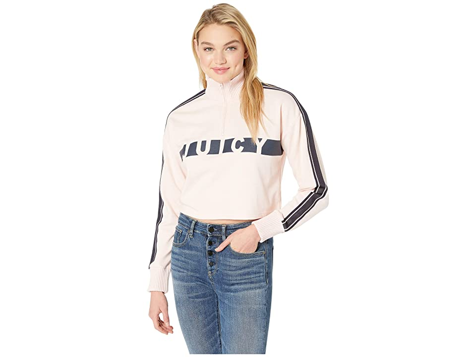 Juicy Couture Juicy Racer Terry Pullover (Sahara Rose) Women
