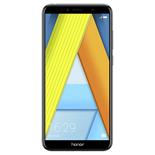 Honor 7A Dual SIM, 16 GB storage, 13 MP Camera and 5.70 Inch Full View Display, UK Official Device - Black