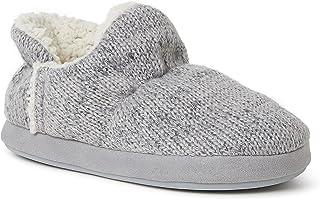 Dearfoams Women's Jade Ragg Knit Bootie Slipper