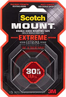 Scotch-Mount Extreme Double-Sided Mounting Tape - Red 414P, , 1 in x 60 in (2,54cm x 1,52m), 1 roll/pack