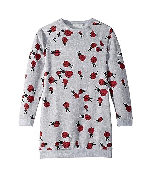 Stella McCartney Kids Leona Ladybug Organic Cotton Fleece Sweater Dress (Toddler/Little Kids/Big Kids)