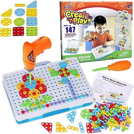 237 Pcs//set 3D Creative Mosaic Drill Set Mosaic Electric Puzzle Toy Kids Gift