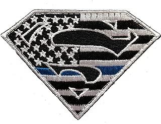 Superman Thin Blue Line Morale Patch Police Law Enforcement