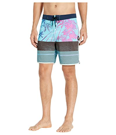 Hurley 18 Phantom King Palm Boardshorts (Blue Gaze) Men