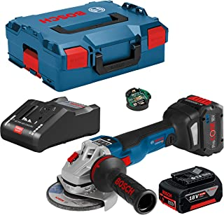 Bosch Cordless Angle Grinder GWS 18V-10 SC with 1 x 6.0 Ah Battery 1 x ProCORE18V 8.0 Ah