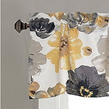 مجموعة ستائر لوحة نافذة مظلمة لغرفة المعيشة بالوان زهرية من لوش ديكور