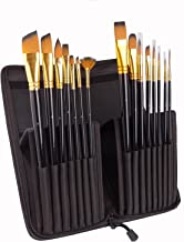 Artist Paint Brushes of 15 pcs Acrylic Painting, Watercolor, Oil and Gouache Different Sizes Multi-functionial Brushes Sha...