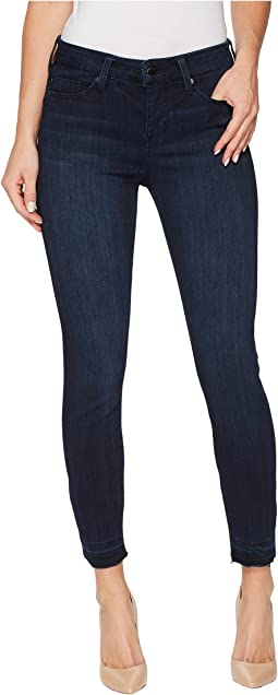Avery Crop with Released Hem in Silky Soft Stretch Denim in Estrella Medium Dark