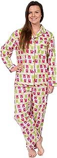 Women's Cotton Flannel Long Sleeve Pajama Set, PJs Sleepwear
