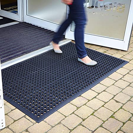Bravich Rubber Door Mats Doormat Outdoor Entrance Non Slip Matting Ramp Mat Amazon Co Uk Kitchen Home