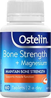 Ostelin Bone Strength + Magnesium - Maintains bone strength - Supports muscle function, 60 count