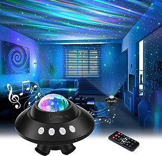 پروژکتور استار پروژکتور نور شب ، نورگیر پروژکتور نور ستاره ای گلکسی گلکسی با کنترل از راه دور ، بلندگوی موسیقی بلوتوث