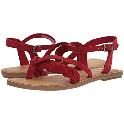 TOMS Lexie Sandal (Red Suede) Women
