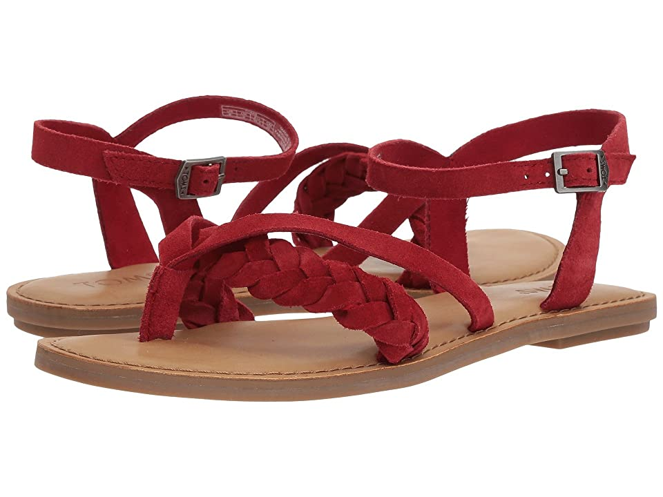 01ab6c428882 TOMS Lexie Sandal (Red Suede) Women s Sandals