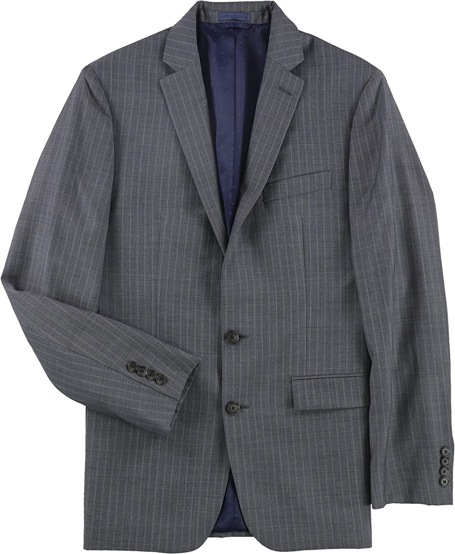 Ryan Seacrest Mens Double Stripe Two Button Blazer Jacket, Grey, 38 Short