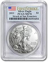 2011 (S) Silver American Eagle MS-70 PCGS (First Strike) Silver MS-70 PCGS