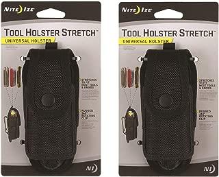 Nite Ize Tool Holster Stretch Universal Multi-Tool/Flashlight Holder Clip 2-Pack