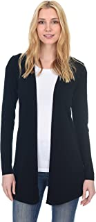 Open Front Cardigan Cashmere Wool Long Sleeve Fashion Sweater for Women (Runs Small)