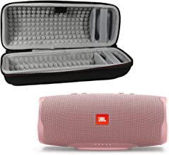 JBL Charge 4 Waterproof Wireless Bluetooth Speaker Bundle with Portable Hard Case - Pink