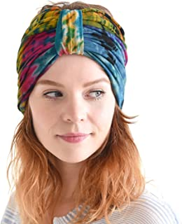 Hippie Turban Headwraps for Women - Boho Headbands Summer Wrap Knot Hair Band Head Scarf