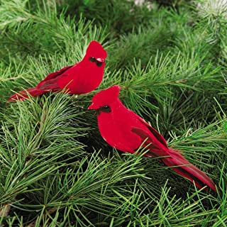 C&F Cardinal Clip-on 5-Inch Christmas Ornament, Red, Pack of 2