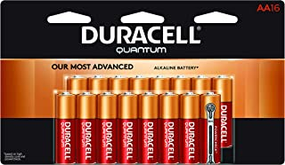 Duracell Quantum AA Alkaline Batteries - Long Lasting, All-Purpose Double A battery for Household and Business - 16 count