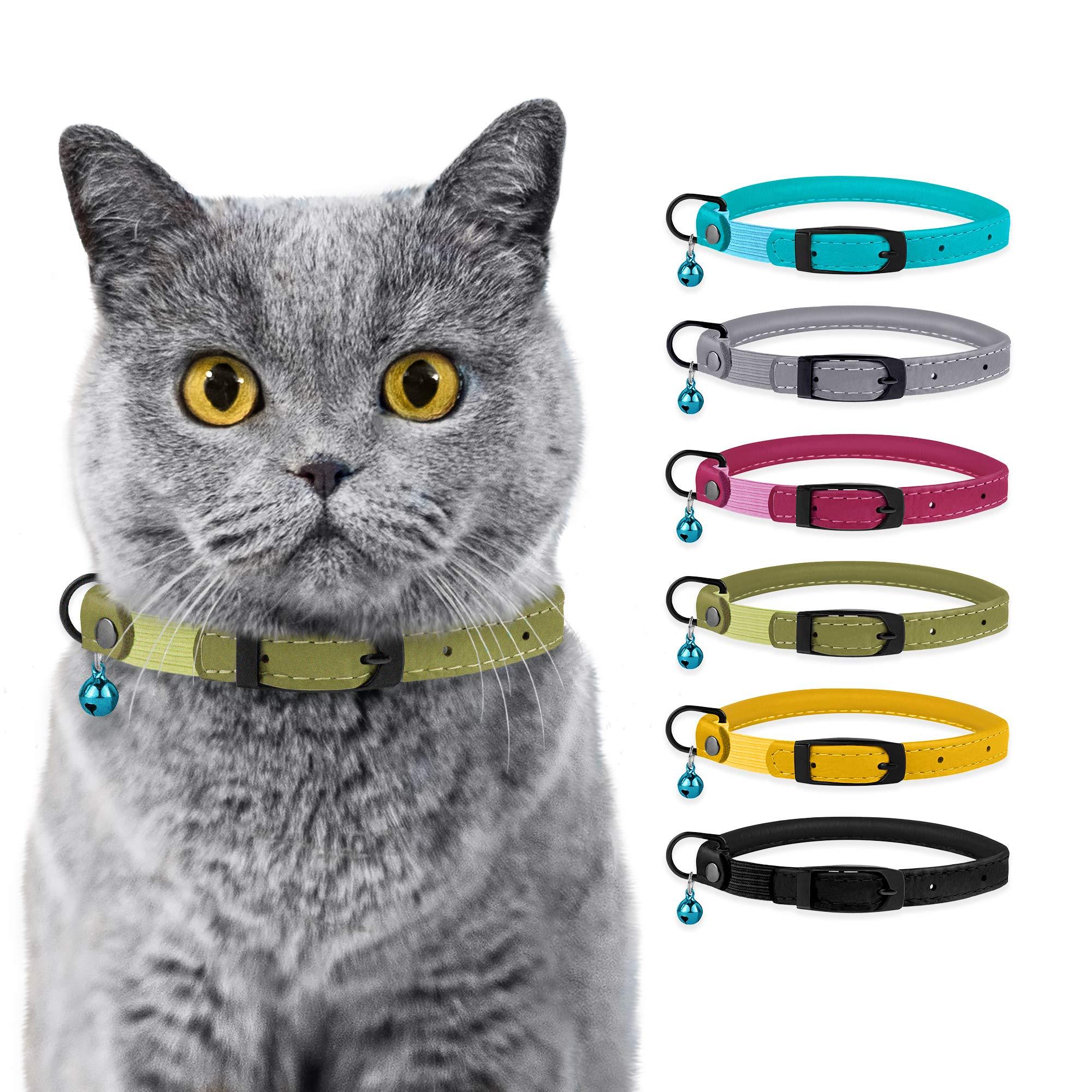 BRONZEDOG - Collar para Gato con Campana de Seguridad Enrollado de ...