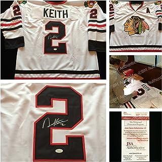 303d9da5bcb Duncan Keith Chicago Blackhawks Signed Autograph White Hockey Jersey  2. JSA  COA