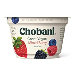 Chobani 2% Greek Yogurt, Mixed Berry Blended 5.3oz