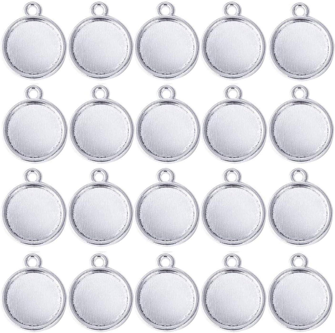 25x18mm blank G10141 Raw Brass Pendant Blank Mosaic Base Blank inlay Blank Necklace Blank Resin Blank Mountings Cabochon Bezel Base