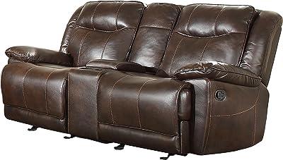 Stupendous Amazon Com Homelegance Center Hill 83 Bonded Leather Inzonedesignstudio Interior Chair Design Inzonedesignstudiocom