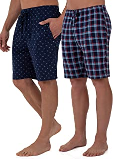 Fruit of the Loom Men's Knit Performance 2 Pack Soft Touch Wicking Sleep Short, Navy/Marine, 4X-Large