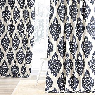 50W Curtain Panels Magnolia Home Ikat Curtains Kitchen Curtain Panels Unlined Modern Ikat Curtains  24W