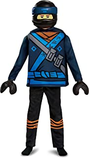Disguise Jay Lego Ninjago Movie Deluxe Costume, Blue, Small (4-6)