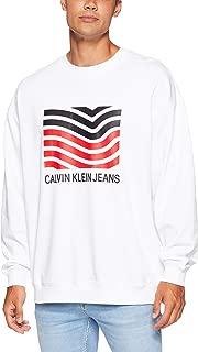 Calvin Klein Jeans Men's Modernist Wave Crew Neck T-Shirt