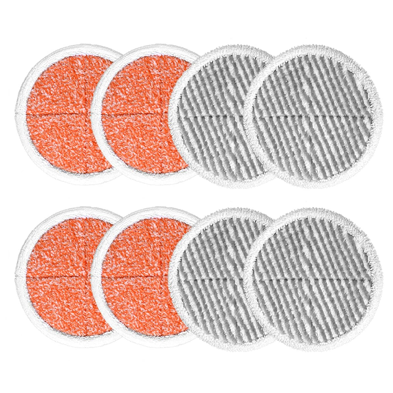 KEEPOW 8 Pack Spin Mop Pads Replacement for Bissell Spinwave 2124, 2039, 2037 Series Powered Hard Floor Mop