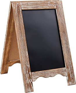 Barnyard Designs Rustic Distressed Wood Magnetic A-Frame Chalkboard Sign - Free Standing Double Sided Easel Display Board for Restaurants, Kitchen, Weddings 15
