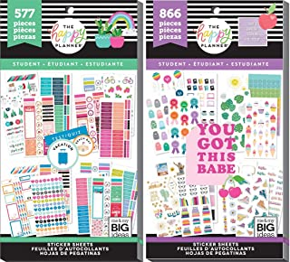 Classic Happy Planner Student Back to School 2019 - Student Seasonal (577) and Student Icons (866) - 2 Sticker Value Packs